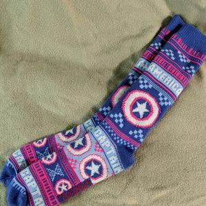 Captain America slipper socks